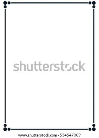 Frame Border Line Page Vector Vintage Stock Vector 534547009