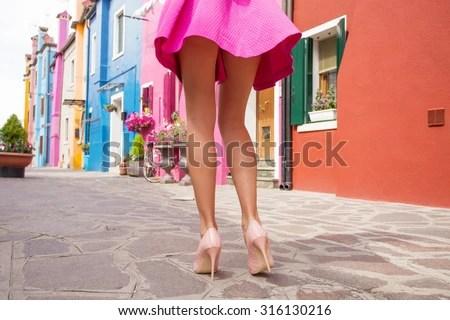 Anime Girl Thighs Wallpaper Hd Woman Wearing High Heel Shoes Mini Stock Photo Royalty
