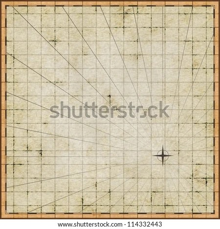 Empty Map Template On Old Paper Stock Illustration 114332443