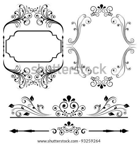 Border Frame Designs Cards Invitations Stock Vector 93259264 - frame for cards