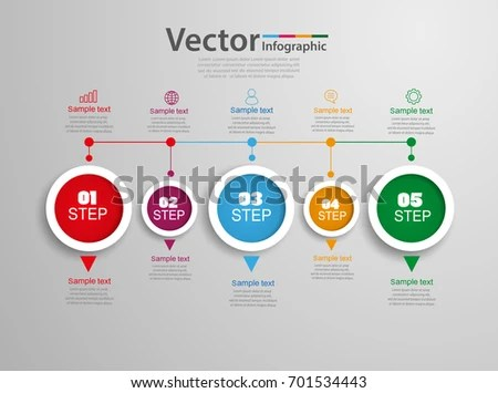 Timeline Chart Infographic Template 5 Options Stock Vector HD - sample advertising timeline
