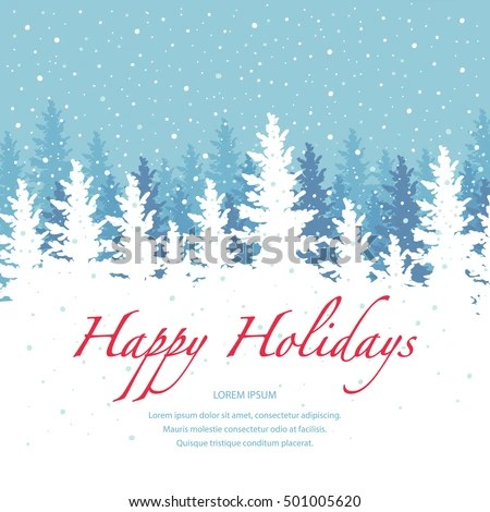 Vector Background Happy Holidays Banner Template Stock Vector
