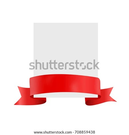 White Blank Card Template Ribbon Vector Stock Vector 691328590 - blank card template