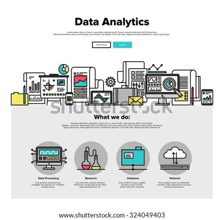One Page Web Design Template Thin Stock Vector 324049403 - data analysis template