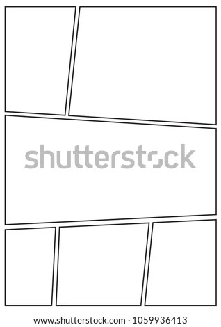 Manga Storyboard Layout Template Rapidly Create Stock Vector (2018