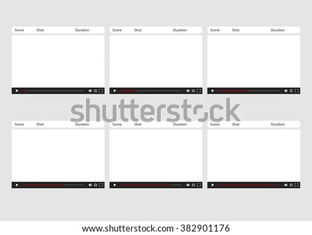 Professional Media Video Player HD 1920 Stock Vector (Royalty Free