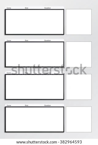 Professional Film Scale Storyboard Template Easy Stock Illustration