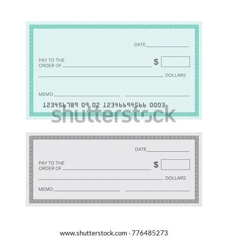 Blank Check Template Check Vector Template Stock Vector 776485273 - check template