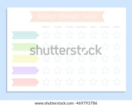 Weekly Rewards Chart Kids Daily Routine Stock Vector HD (Royalty