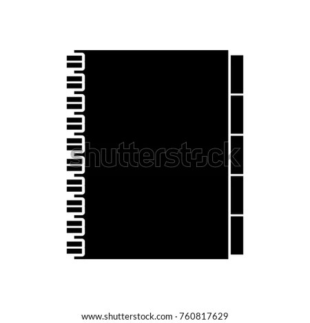 Address Book Contacts Business Office Supply Stock Vector 760817629