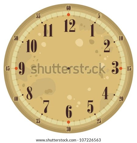 Vintage Clock Face Template Old Background Stock Vector 107226563 - clock face template