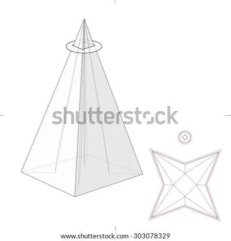 Pyramid Package Blueprint Template Stock Vector 303078329 - Shutterstock - pyramid template