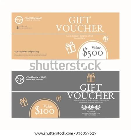 Gift Voucher Template Eps 10 Vector Format Stock Vector HD (Royalty - gift voucher format