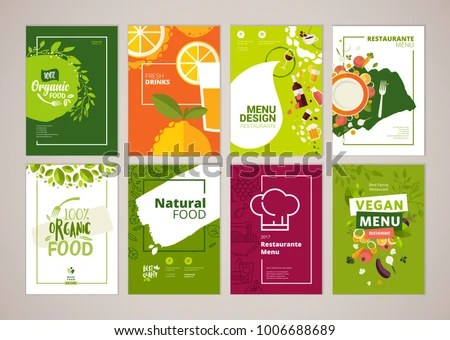 Set Restaurant Menu Brochure Flyer Design Stock Vector (Royalty Free