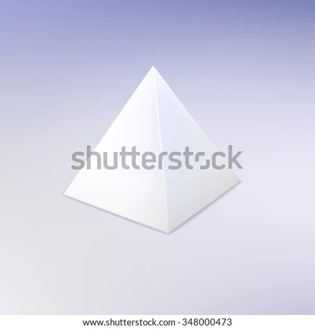 Blank Vector White Pyramid Template Your Stock Vector (2018 - blank pyramid template
