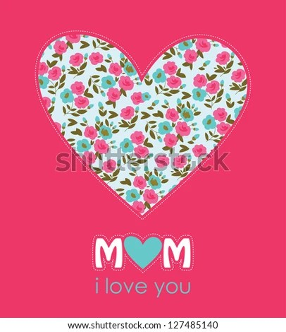 Happy Mothers Day Card Design Vector Stock Vector (2018) 127485140