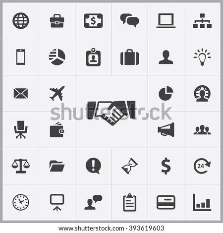 Simple Business Icons Set Universal Business Stock Vector HD - simple business