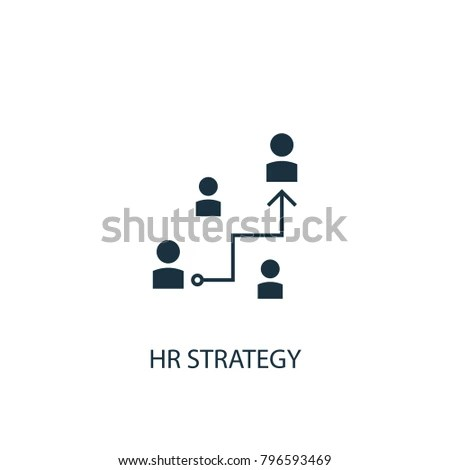 Hr Strategy Icon Simple Element Illustration Stock Vector (2018