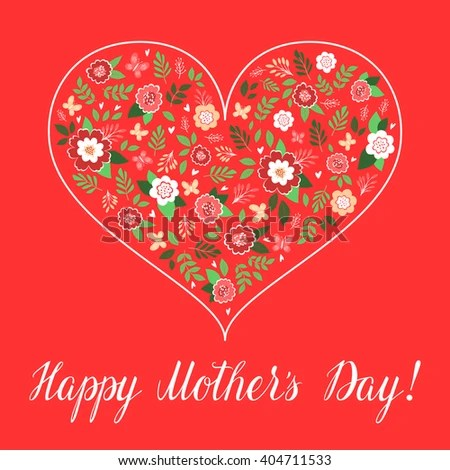 Happy Mothers Day Card Template Vector Stock Vector 404711533