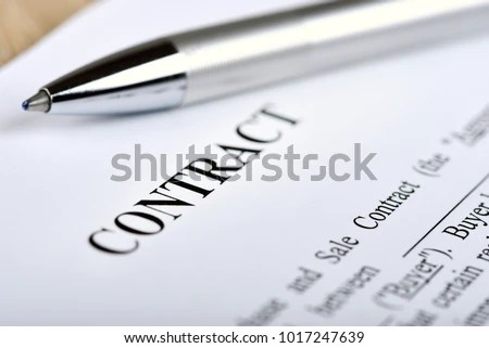 Legal Contract Signing Buy Sell Real Stock Photo 1017247639 - legal contract