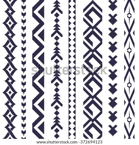 Tribal Tattoo Vector Pattern Textile Design Stock Vector HD (Royalty - vertical designs