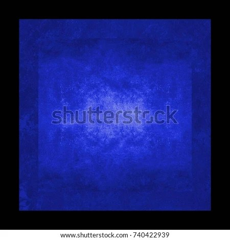 Blue Colorful Background Black Border Frame Stock Illustration - black border background