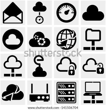 stock-vector-server-internet-network-vector-icon-set-on-gray - police resume examples