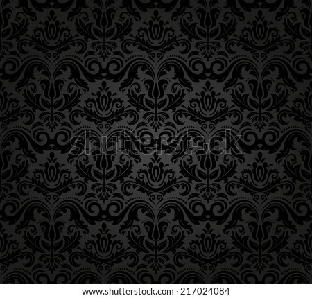 Black damask pattern wallpaper free vector download (26,272 Free