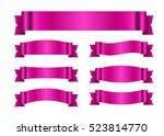 Pink Vector Ribbon Set Vector Art  Graphics freevector