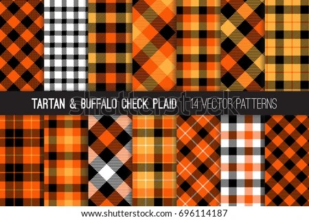 Fall Flannel Wallpaper Lumberjack Plaid Buffalo Check Patterns Red Stock Vector