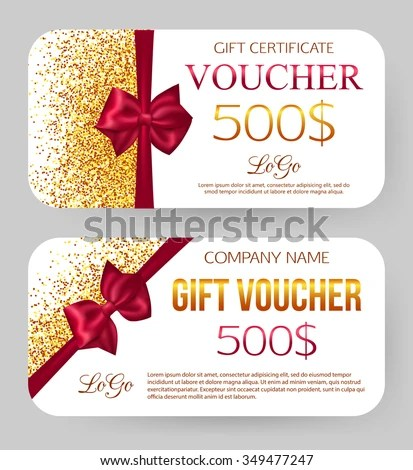 Gift Voucher Template Gift Card Voucher Stock Vector 349477247 - free template gift certificate