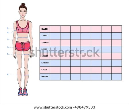 weight loss measurements template xv-gimnazija