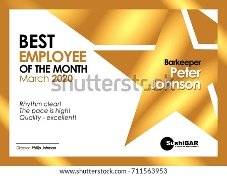 Employee Of The Month Clipart Bbcpersian7 Collections Employee Of - free employee of the month certificate template