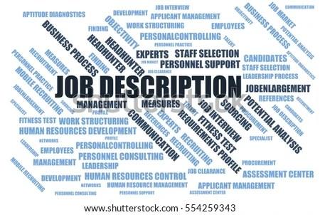 ... Job Description Word Cloud Wordcloud Terms Stock Illustration   Stocker Job  Description ...