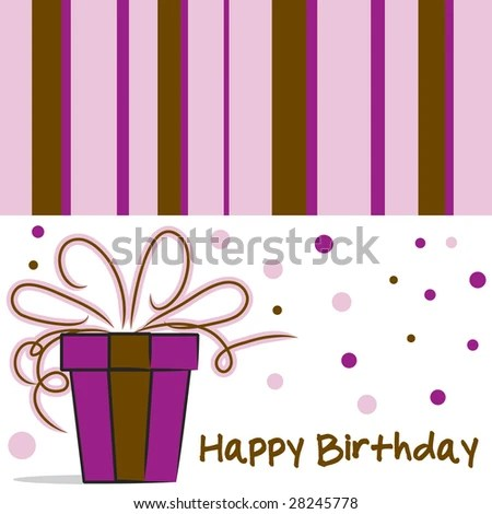Vector Happy Birthday Card Layout Stripes Stock Vector 28060735 - birthday card layout