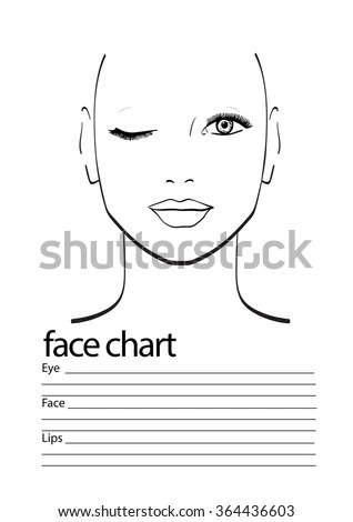 Beautiful Woman One Eye Closed Face Stock Vector 396653173 - eye chart template