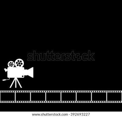 Blank White Cinema Background Old Camera Stock Vector 380674438 - Shutterstock