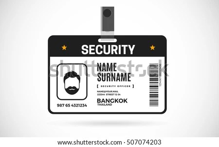 Event Security Id Card Set Lanyard Stock Vector 507074203 - event card template