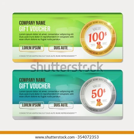 Vector Gift Voucher Template Clean Modern Stock Vector 354072353   Money  Coupon Template