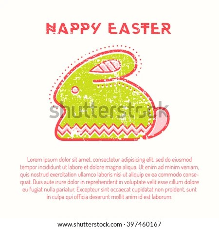 Happy Easter Greeting Card Template Minimalist Stock Vector - easter greeting card template