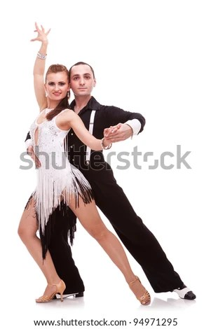 sensual salsa dancing couple on white background couple of latino - ballet dancer resume