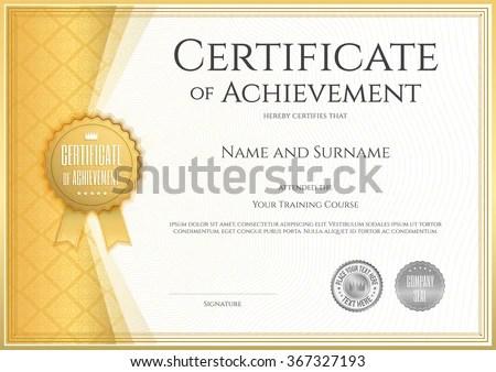blank certificates of achievement