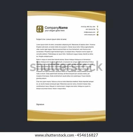 Abstract Creative Letterhead Design Stock Vector 500679169 - business letterhead