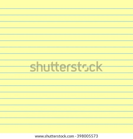 Notebook Paper Background Yellow Lined Paper Stock Vector - lined page