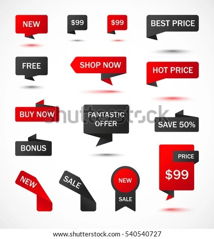 Vector Stickers Price Tag Banner Label Stock Vector 481444336 - sale tag template