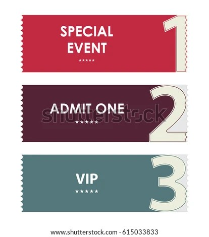 Admit One Tickets Special Christmas Design Stock Vector 114509146 - admit one ticket template