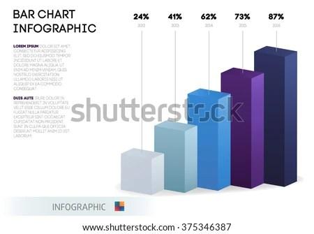 Bar Chart Infographic Template Abstract 3d Stock Vector 375346387 - bar chart template