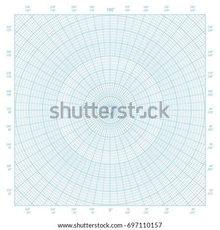 Old Sheet Polar Graph Paper Shows Stock Photo 315577895 - Shutterstock - polar graph paper