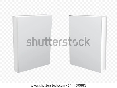 Standing Closed White Paper Book On Stock Vector 644430883 - white paper template
