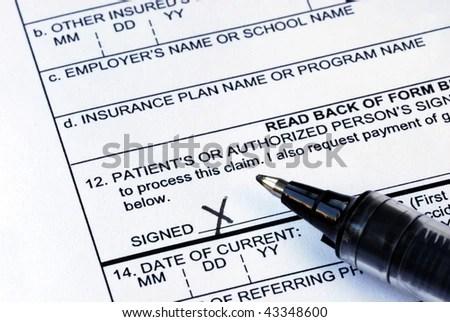 Stethoscope On Medical Claim Form Stock Photo 56216362 - Shutterstock - medical claim form
